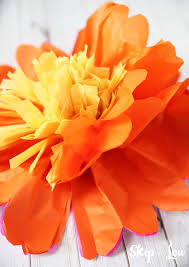 Tissue Paper Flower Instructions How To Make Tissue Paper Flowers Skip To My Lou
