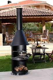 outdoor wood fireplace burning contemporary open hearth free standing kits fires australia