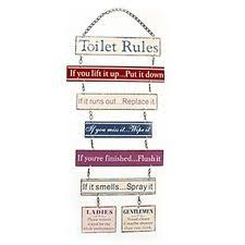 office bathroom rules. Unique Rules TOILET RULES HANGING PLAQUE METAL BATHROOM SIGN FUNNY MESSAGE DOOR WALL LOO  NEW And Office Bathroom Rules E