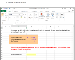 Cash Flow Calculation Excel Solved 1 Calculate The Annual Cash Flow Calculating Ann