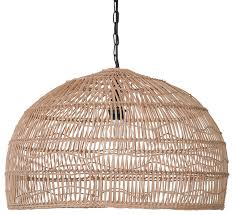 open weave cane rib dome pendant lamp natural tropical pendant lighting by kouboo