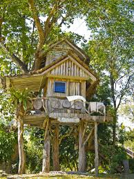 Treehouses for kids Cool 2story Kids Tree House With Wrap Around Deck Home Stratosphere 70 Fun Kids Tree Houses picture Ideas And Examples