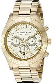amazon com michael kors men s jaryn gold tone watch mk8503 michael kors men s layton gold tone watch mk8214
