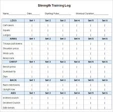 Workout Schedule Template – 10+ Free Word, Excel, PDF Format ...