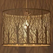 Tree Shadow Light Shade Tree Silhouette Lamp Shade