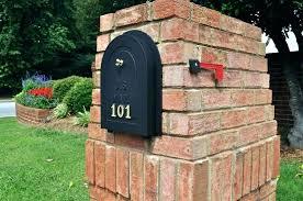 Mailbox Post Ideas Mail Boxes Ideas Mail Box Ideas Brick Mailbox