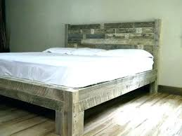 Solid Wood King Platform Bed Reclaimed Wood King Platform Bed Frame ...