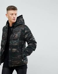 new balance down jacket. new look quilted jacket in camo print khaki balance down