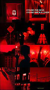Red aesthetic grunge ...