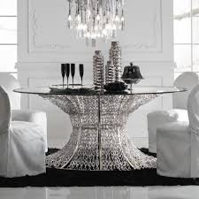 astounding round smoked glass dining table for your home idea