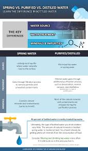 Purifying Drinking Water Spring Drinking Distilled Vs Purified Water Infographic Guide