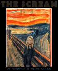 Image result for hillary the scream pics