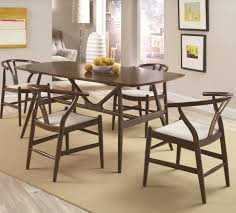 kersey  piece dining set with midcentury modern legs  quality