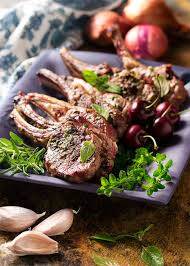 Grilled Lamb Chops With A Fresh Cherry Port Sauce Just A Little
