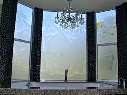 bathroom window glass. Palm Tree Desert Landscape - Bathroom Windows Frosted Glass Privacy Window S