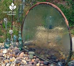simple glass table top transformed into water fountain