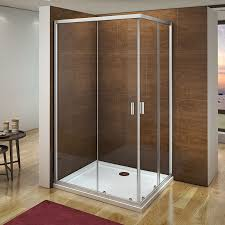 details about aica 1200x800 corner entry shower enclosure walk in sliding glass screen cubicle