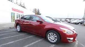 nissan altima 2015 red. 2015 nissan altima 25 s cayenne red pearl fc181511 kent tacoma youtube