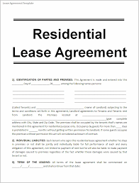lease contract template printable sample free lease agreement template form real estate