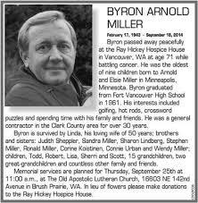 Byron Arnold Miller   Obituaries   thereflector.com