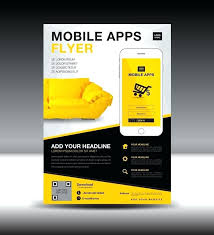 Free App Flyer Template Best To Create Flyers Ninja A Mobile
