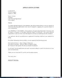 Application Letter Example Magnificent Letter For Job Application With Resume As Well As Teacher