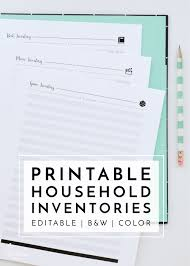 keep track of inventory new to the organization toolbox printable household