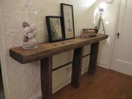 bedroom reclaimed wood console table