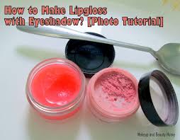 how to make lip gloss with an eyeshadow photo tutorial