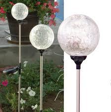 Crackle Glass Globe Solar Lights