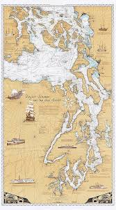 Historical Nautical Charts For Sale Puget Sound San Juan Islands Chart Paper Or Laminated Wall Map