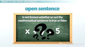 what does the word translate mean math open sentence in math definition example lesson transcript