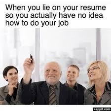 Lied on your resume meme MemeSuper Resume Writing Lab Resume lying chart