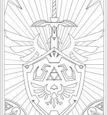 Legend Zelda Master Sword Coloring Pages