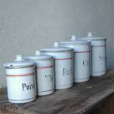 French Canisters Kitchen Les Volets Ouverts Vintage French Kitchen Enamel Canisters
