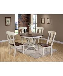 white dining table shabby chic country. Baxton Studio Napoleon Shabby Chic Country Cottage Antique Oak Wood And Distressed White 5-Piece Dining Table I