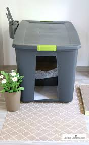 a diy cat litter box holder is a simple homemade way to hide a kitty litter