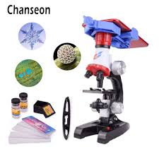 <b>Microscope</b> Kit Lab With phone holder LED School Science ...