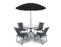outdoor dining table no umbrella hole chair set backyard furniture sun bk