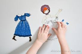pioneer woman clothing drawing. pioneer dress-up doll printable woman clothing drawing