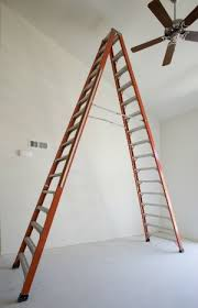 how to balance a ceiling fan with a ladder