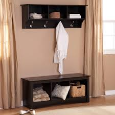 Bench And Coat Rack Set Sonoma Black Triple Cubby Bench and Coat Rack Set Home Pinterest 3