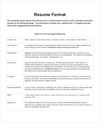 What Is The Format Of A Resume Adorable Chronological Resume Format Images Of Photo Albums Formats Of Resume