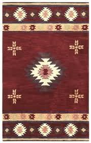 Navajo Area Rugs Southwest Burgundy Rug Print