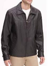 new dockers men s james faux leather open bottom jacket size large 180 retail 882713581485