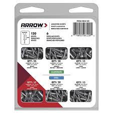 arrow 120 pack 1 8 in varies aluminum rivets