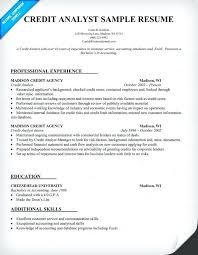 Credit Analyst Cover Letter Sample Credit Analyst Resume Sample