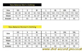 New Balance Shoes Size Chart Dvd Wizard Pro Co Uk