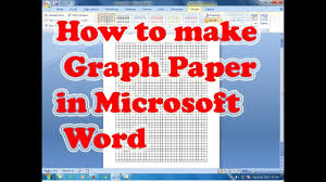 Turn Excel Into Graph Paper How To Make Graph Paper In Microsoft Word Youtube
