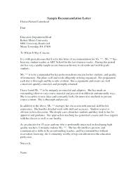Template Recommendation Letter For Student Recommendation